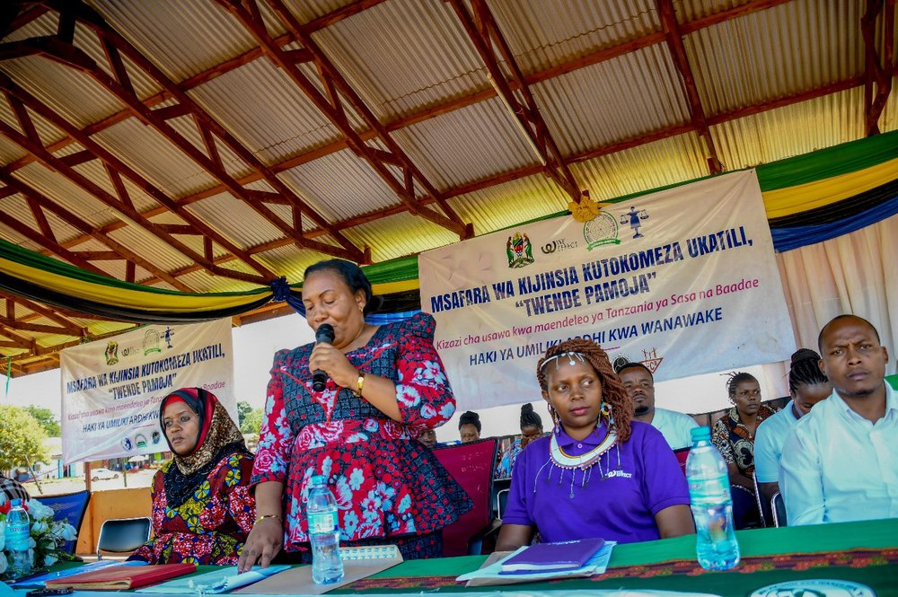 Participants discuss the progress made by the Tanzanian government on women's land.
