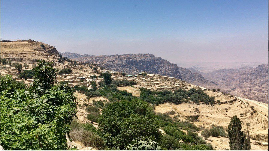 Dana Village with Wadi Dana in the background